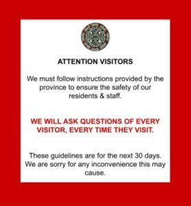 VCC Door Sign saying we must ask questions
