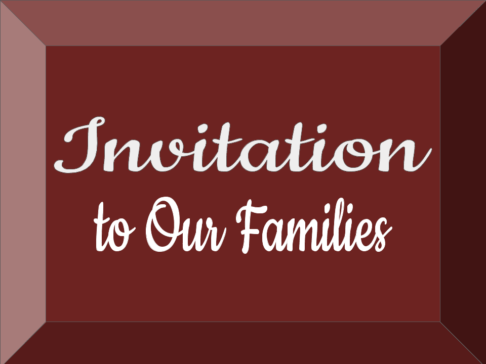 Invitation To Families