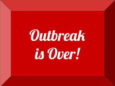 Outbreak is over